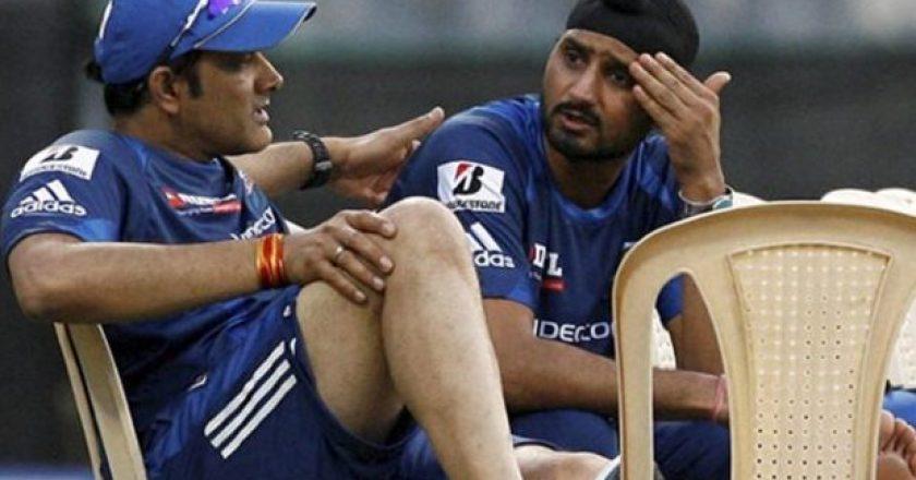 Anil Kumble, Harbhajan Singh, Indian Premier League, Mumbai Indians, Mumbai, Wankhede Stadium