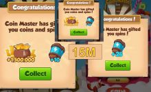 Coin Master Get More than 50 plus spins and 900k coins free get